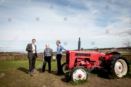 Stock Picture of Michael Crockart with farm general manager, Rowland Thomson and Willie Rennie