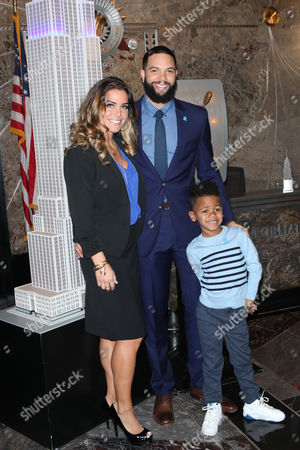 Deron Williams, Amy Young Williams and DJ Williams