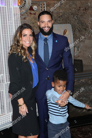 Stock Picture of Deron Williams, Amy Young Williams and DJ Williams