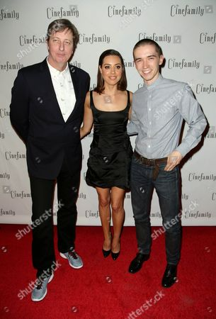 Hal Hartley, Aubrey Plaza and Liam Aiken