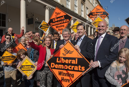 Don Foster with Nick Clegg and Steve Bradley.