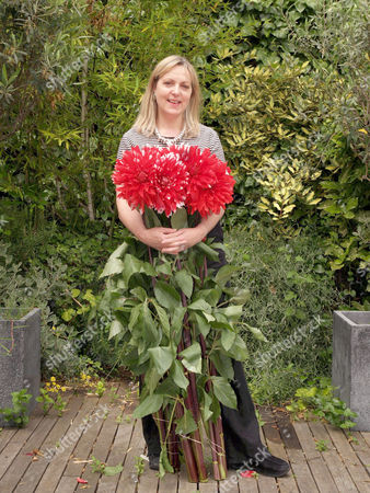 Paula Pryke at her home/shop. Paula is on a new Channel 4 programme helping ex convicts open their own flower shop