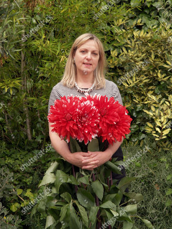 Stock Photo of Paula Pryke at her home/shop. Paula is on a new Channel 4 programme helping ex convicts open their own flower shop