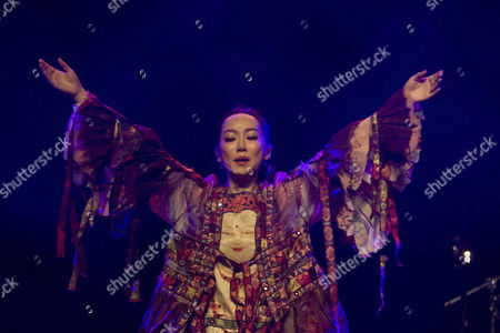 The Chinese singer Sa Dingding live at her exclusive Swiss concert in the Lucerne hall of the KKL Lucerne, Switzerland