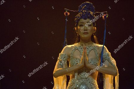 Stock Photo of The Chinese singer Sa Dingding live at her exclusive Swiss concert in the Lucerne hall of the KKL Lucerne, Switzerland