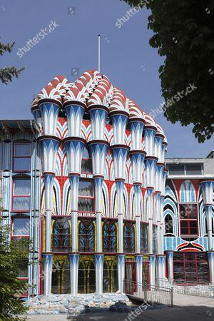 Fuchspalast Hotel, designed by Ernst Fuchs, St. Veit an der Glan, Carinthia, Austria, Europe