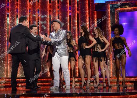 Anthony McPartlin and Declan Donnelly with Lou Bega