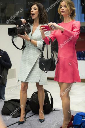 Maribel Verdu and Paula Cancio