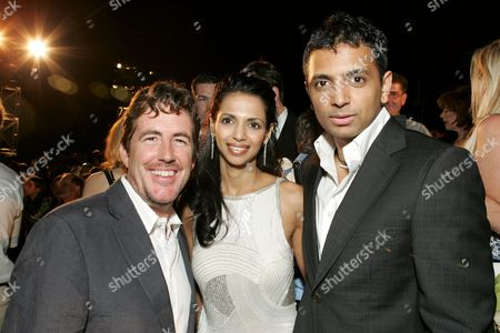 Sam Mercer, Bhavna Shyamalan and M. Night Shyamalan