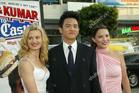 Brooke D'Orsay, John Cho and Kate Kelton