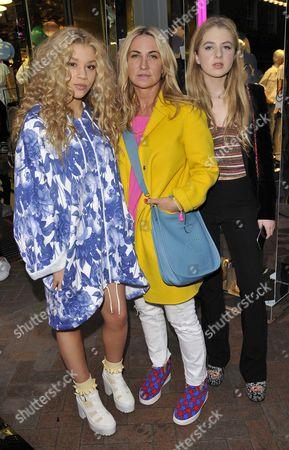 Stock Image of Molly Rainford, Meg Mathews and Anais Gallagher