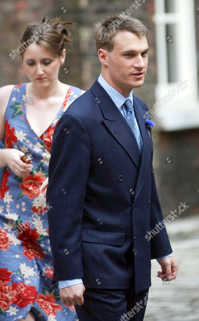 Alexander Windsor,The Earl of Ulster, arriving for the wedding of his sister