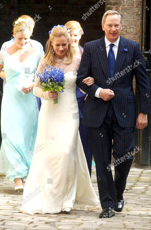 Lady Davina Windsor accompanied by her father the Duke of Gloucester on their way to the chapel