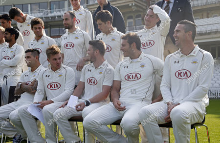 Editorial image of LV County Championship 2015 Division Two Surrey CCC Photocall The Oval, London, United Kingdom - 9 Apr 2015