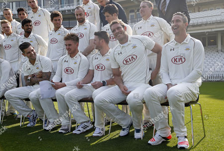 Editorial picture of LV County Championship 2015 Division Two Surrey CCC Photocall The Oval, London, United Kingdom - 9 Apr 2015
