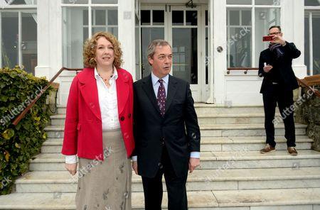 Stock Image of Nigel Farage and Harriet Yeo