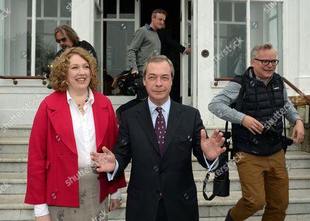 Stock Photo of Nigel Farage and Harriet Yeo