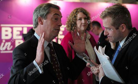 Nigel Farage and Harriet Yeo