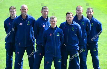 Tom Turner, David Harrison, Steve Watkin, Toby Radford, Robert Croft, Richard Almond and Mark Rausa.