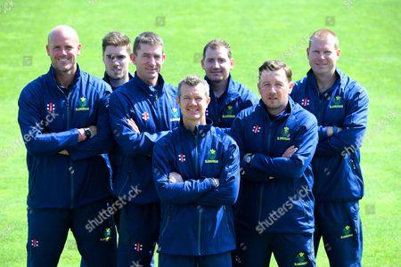 David Harrison, Tom Turner, Steve Watkin, Toby Radford, Mark Rausa, Robert Croft, Richard Almond.