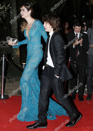 Stock Picture of Luciana Gimenez and Lucas Maurice Morad-Jagger