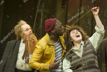 Jason Watkins as Mr Twit, Dwane Walcott as Handsome Waltzer Boy, Monica Dolan as Mrs Twit
