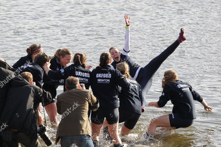 Editorial picture of The Newton Women's Boat Race 2015 River Thames, London, United Kingdom - 11 Apr 2015