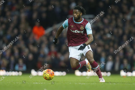 Alexandre Song of West Ham United in action