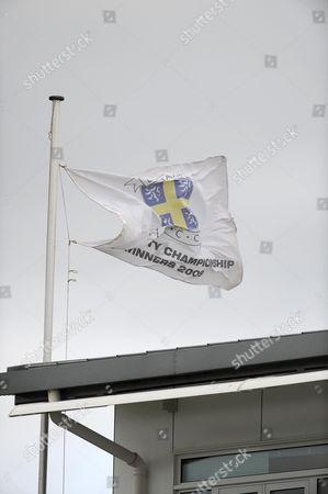 The Durham flag flies at half mast to honour the life of Former Australian Cricketer Richie Benaud