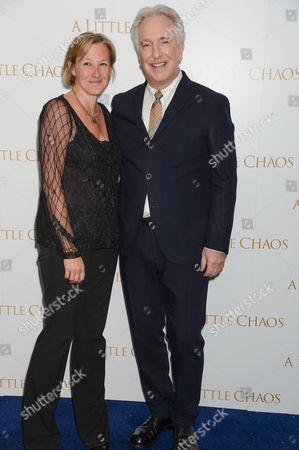 Gail Egan and Alan Rickman