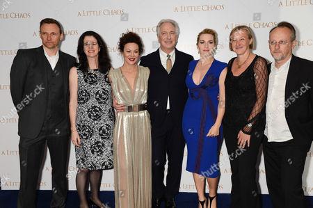 Zygi Kamasa, Andrea Calderwood, Helen McCrory, Alan Rickman, Kate Winslet, Gail Egan and Bertrand Faivre