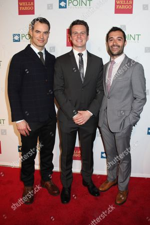 Murray Bartlett, Jonathan Groff and Frankie J. Alvarez