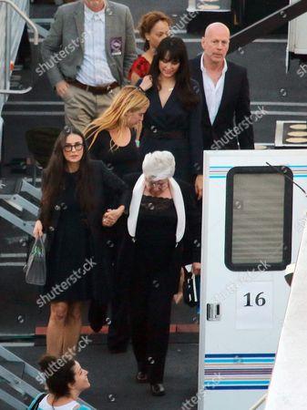 Bruce Willis, Emma Heming, Scout Larue Willis, Demi Moore and Marlene Willis