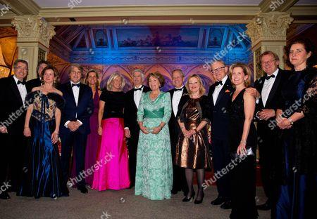 Princess Margriet and Pieter Van Vollenhoven, Jet Bussemaker and Ronald Plasterk with guests