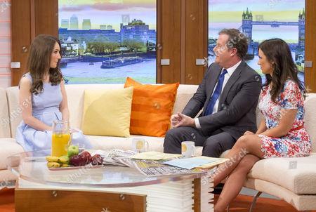 Heidi Agan with Piers Morgan and Susanna Reid