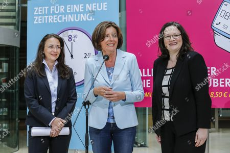 Yasmin Fahimi, Malu Dreyer and Andrea Nahles