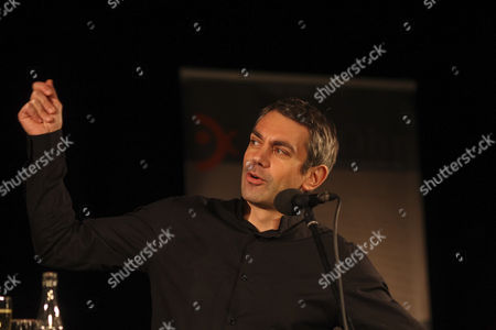 Author Wladimir Kaminer during a speech at the literature festival ''Ganz Ohr'', Koblenz, Rhineland-Palatinate, Germany, Europe