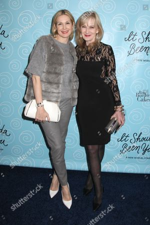 Stock Picture of Kelly Rutherford and Caroline Lagerfelt