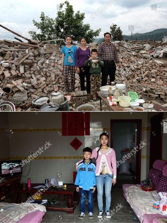 Editorial picture of 2nd anniversary of earthquake in Longmen Township, Lushan County,  Sichuan Province, China - Apr 2015