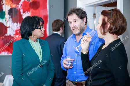 Cheryl Boone Isaacs Jon Blair, and Pamela Godfrey