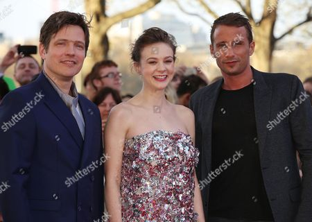 Stock Photo of Thomas Vinterburg, Carey Mulligan and Matthias Schoenaerts