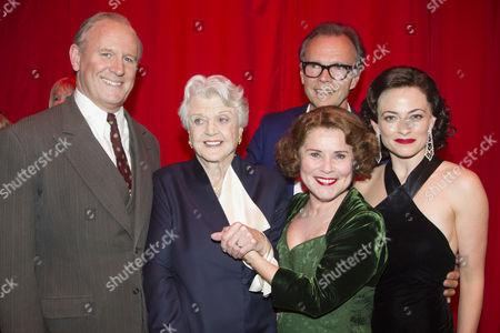 Peter Davison (Herbie), Angela Lansbury, Imelda Staunton (Momma Rose), Jonathan Kent (Director) and Lara Pulver (Louise) backstage