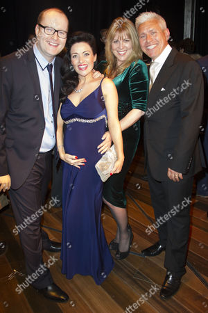 Stock Picture of Michael Harrison (Producer), Kathryn Rooney, Tracey Ian and David Ian (Producer) backstage