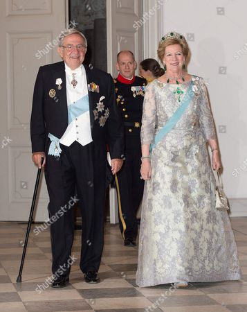 Editorial image of Queen Margrethe II 75th birthday dinner, Christiansborg Palace, Copenhagen, Denmark - 15 Apr 2015