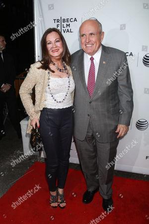 Rudy Giuliani (L) and Judith Nathan Giuliani