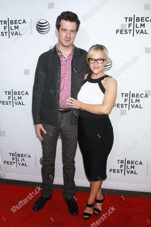 Christian Hebel (L) and actress Rachael Harris