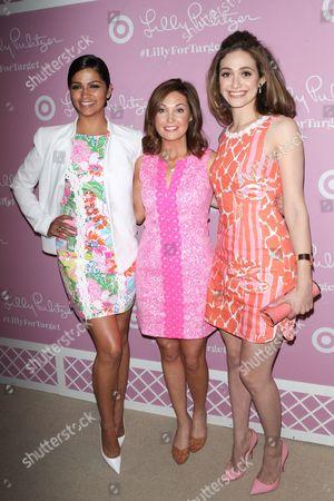 Stock Photo of Camila Alves, Dustee Jenkins and Emmy Rossum