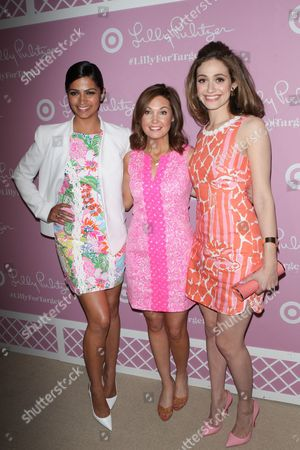 Stock Image of Camila Alves, Dustee Jenkins and Emmy Rossum