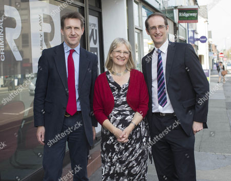 Dan Jarvis (Left) Anne Snelgrove (centre) Lee Mott of Reeds Solicitors (right) at Reeds Solicitors