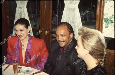 Paloma Picasso and Quincy Jones